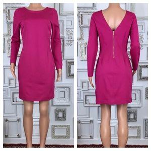 Banana Republic   Pink Ponte V-Back Bodycon Dress
